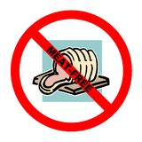 mięso symbolu tekst wolny Obrazy Royalty Free