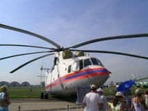 Mi-26T helicopter Stock Photo