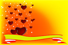 Mi tarjeta del día de San Valentín Imágenes de archivo libres de regalías
