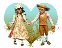 Mi tarjeta del día de San Valentín afortunada Imagenes de archivo