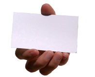 Mi tarjeta (espacio en blanco para su texto) Fotografía de archivo
