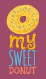 Mi tipografía dulce del buñuelo Imágenes de archivo libres de regalías