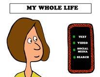 Mi toda la vida stock de ilustración