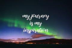Mi viaje es mi inspiración foto de archivo