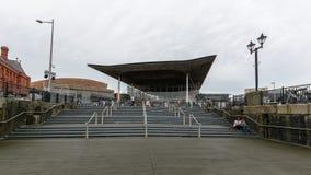 Mi vue au-dessus d'Assemblée nationale pour le Pays de Galles photographie stock libre de droits