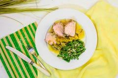 Mięso w korzennym kumberlandzie brzoskwinie Fotografia Royalty Free