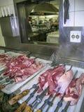 Mięso w kuchni Fotografia Stock