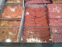 Mięso w masarka sklepie Fotografia Royalty Free
