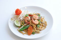 Mi Xao. Lo mein noodles stir-fried with your choice of meat chicken, beef or tofu and mixed vegetables stock image