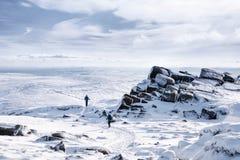 Miły harcerz w zimie Fotografia Stock