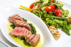 Mięso z warzywami Zdjęcie Royalty Free