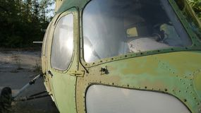 Mi-2 zijn de helikopters bij het behoud op lange termijn royalty-vrije stock fotografie