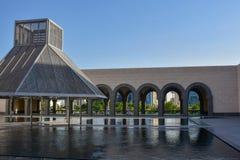 MIA Archway et piscines se reflétantes photo stock