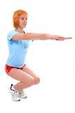 miła dziewczyna fizycznej fitness Obraz Royalty Free