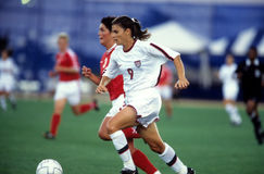 Mia Hamm. United States women's soccer legend Mia Hamm. (Image taken from color slide royalty free stock images