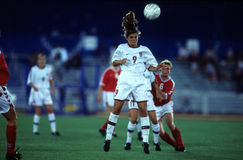 Mia Hamm. United States Women's soccer legend Mia Hamm. (Image taken from color slide stock images