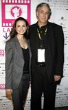 Mia Maestro and director Ricardo Preve. HOLLYWOOD, CALIFORNIA. Saturday October 7, 2006. Mia Maestro and director Ricardo Preve attend the LALIFF Screening of ` Royalty Free Stock Image