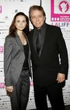 Mia Maestro and Edward James Olmos. HOLLYWOOD, CALIFORNIA. Saturday October 7, 2006. Mia Maestro and Edward James Olmos attend the LALIFF Screening of `Chagas: A Royalty Free Stock Images