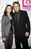 Mia Maestro and Edward James Olmos. 10/07/2006 - Hollywood - Mia Maestro and Edward James Olmos attend the LALIFF Screening of `Chagas: A Hidden Affliction` held Stock Photo