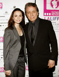 Mia Maestro and Edward James Olmos. At the LALIFF Screening of Chagas: A Hidden Affliction held at the Egyptian Arena Theatre in Hollywood, California on Royalty Free Stock Photography