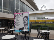 Mia Meltdown festival in London. LONDON, UK - JUNE 08, 2017: Billboard showing MIA's Meltdown festival programme at the Southbank Centre Royalty Free Stock Image