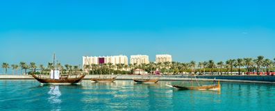 Mia park przy muzeum Islamska sztuka w Doha, Katar Obraz Royalty Free