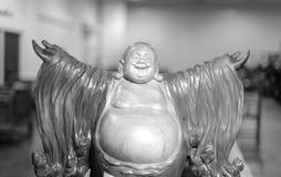 Śmiać się Buddha otwarte ręki Obrazy Stock