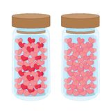 Heart in a Glass bottle on white background royalty free illustration