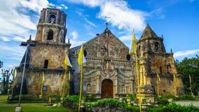 Miagao-Kirche, gelegen in Panay, Philippinen lizenzfreies stockbild