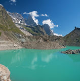 Miage lake, Courmayeur Stock Photo