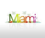 Miam- Florida ilustração royalty free