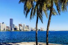 Miami śródmieścia linia horyzontu obrazy stock