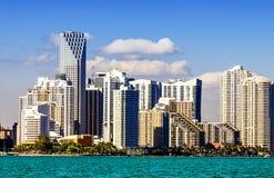 Miami śródmieścia linia horyzontu zdjęcie royalty free