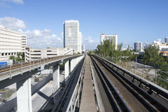 Miami śródmieścia pociągu system, Floryda, usa Obrazy Stock