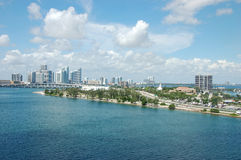 Miami. City and Beach in Florida, USA Royalty Free Stock Photography