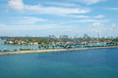 Miami. City and Beach in Florida, USA Stock Image