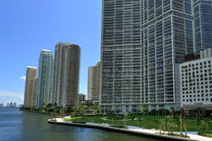 Miami. Downtown building and river Royalty Free Stock Image