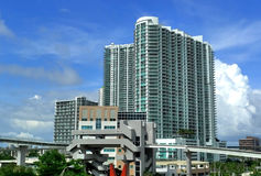 Miami. Downtown building and river Royalty Free Stock Photo