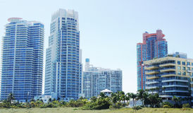 Miami. High-rise buildings on the coast of South Beach, Miami Royalty Free Stock Image