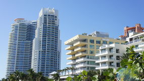 Miami. High-rise buildings on the coast of South Beach, Miami Stock Images
