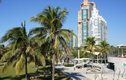 Miami. High-rise buildings on the coast of South Beach, Miami Stock Photo