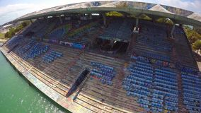 Miami aérea Marine Stadium 4k almacen de metraje de vídeo