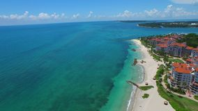 Miami aéreo Fisher Island 4k video estoque
