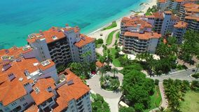 Miami aerea Fisher Island 4k stock footage