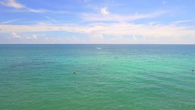 Miami Aerial beach stock video footage