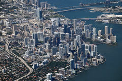 Miami aerial view Stock Photos