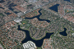 Miami aerial view Royalty Free Stock Photo