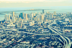 Miami aerial view Royalty Free Stock Photos