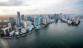 Miami from the air Royalty Free Stock Images