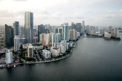 Miami from the air Royalty Free Stock Photography